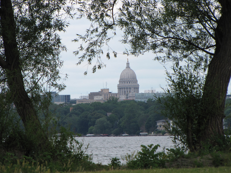Downtown Madison from Monona Park.