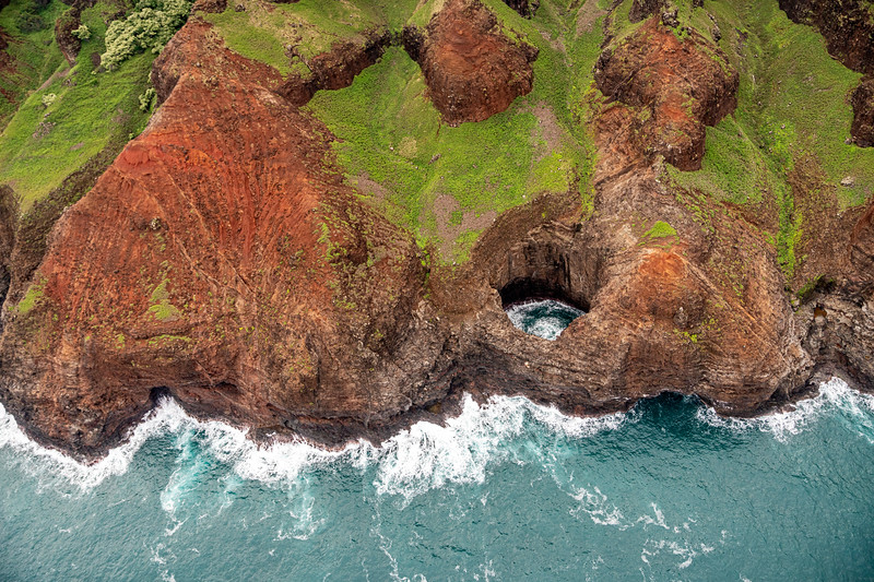 Bird's Eye view of the Napali Coast