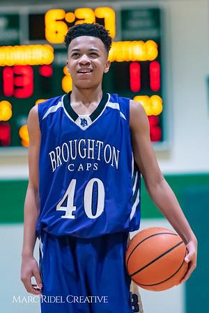 Broughton JV boys basketball vs Cardinal Gibbons. February 7, 2019. 750_3323