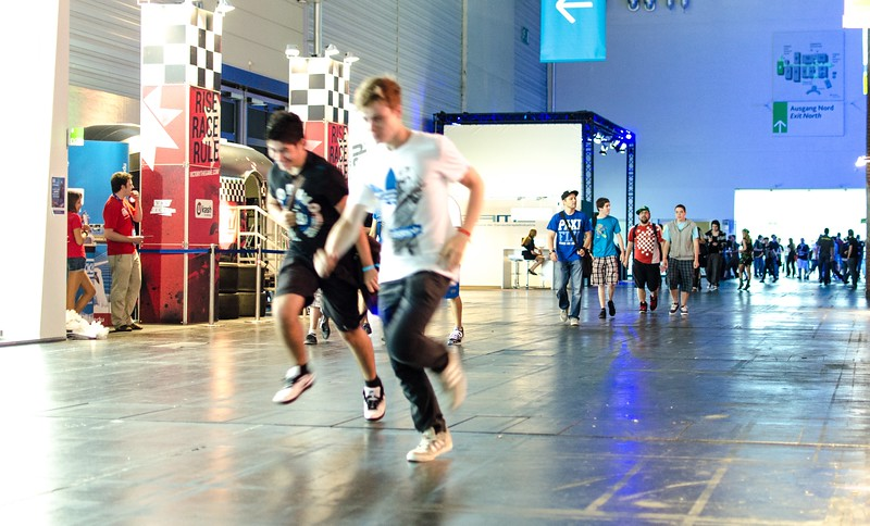 Running gamers @ Gamescom 2012