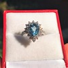 3.30ctw Aquamarine and Diamond Cluster Ring 15