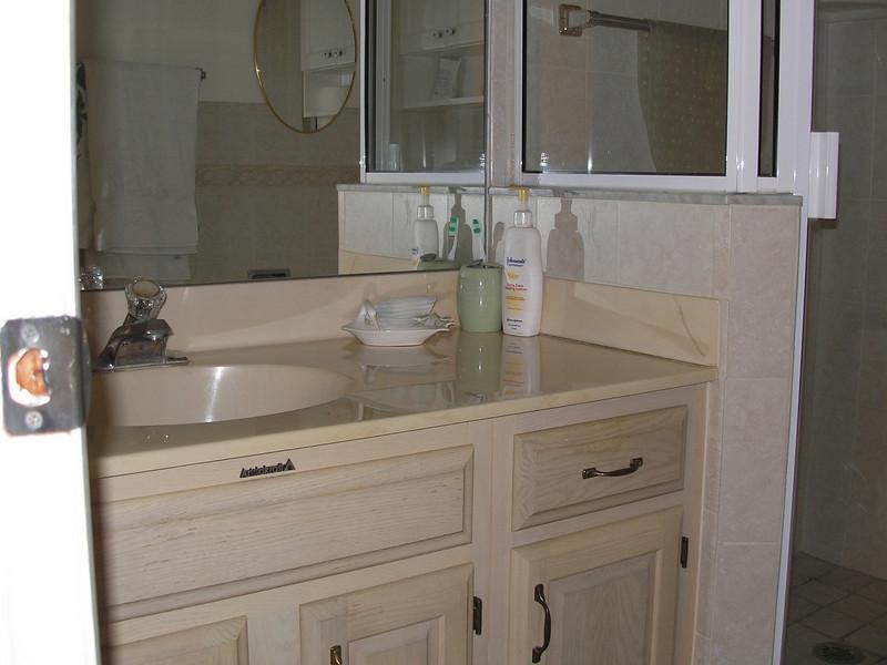 Vanity in bathroom for Guest bedroom