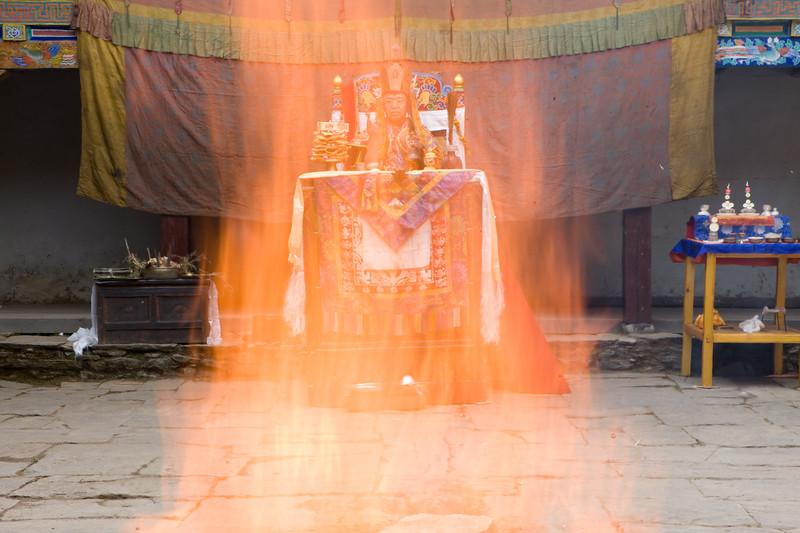 Jinsak, The Fire Puja.