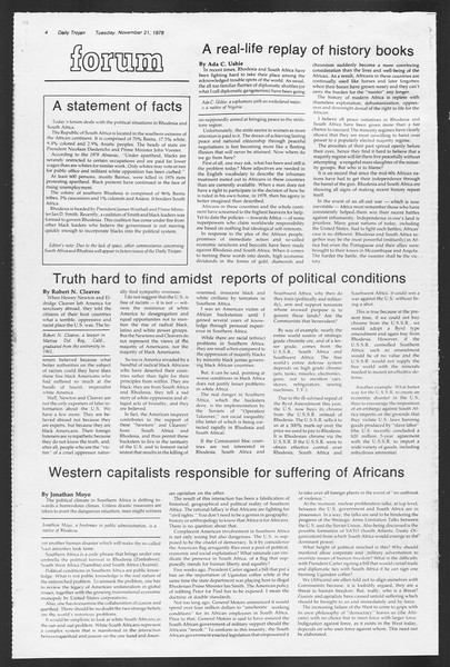 Daily Trojan, Vol. 75, No. 42, November 21, 1978