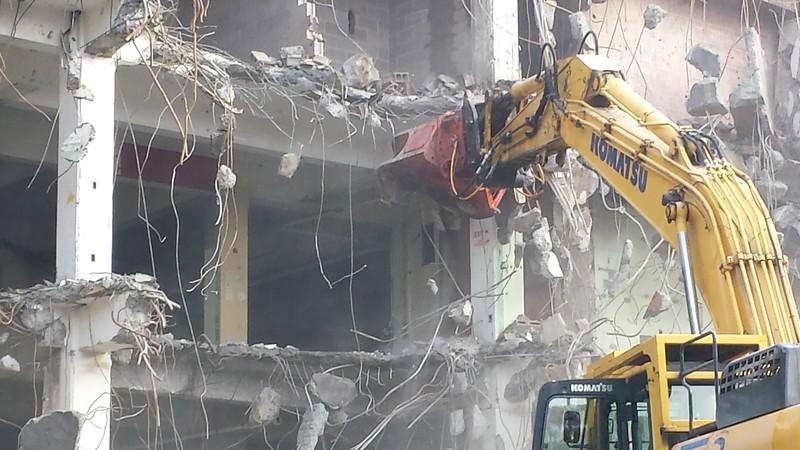 NPK U45JR concrete pulverizer on Komatsu excavator - commercial demolition (7).jpg