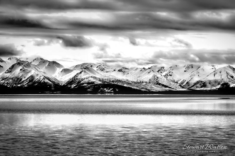 Lake Tekapo Black and white