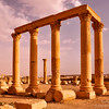 Ancient columns of Palmyra, Syria