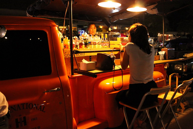 An old truck cum coffee stand