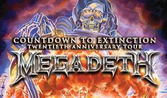 """Megadeth """"Countdown To Extinction"""""""