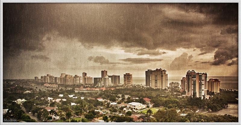 Rainy day in Naples, Florida