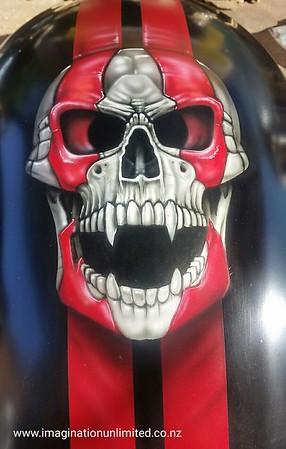 Skull and Stripe Harley
