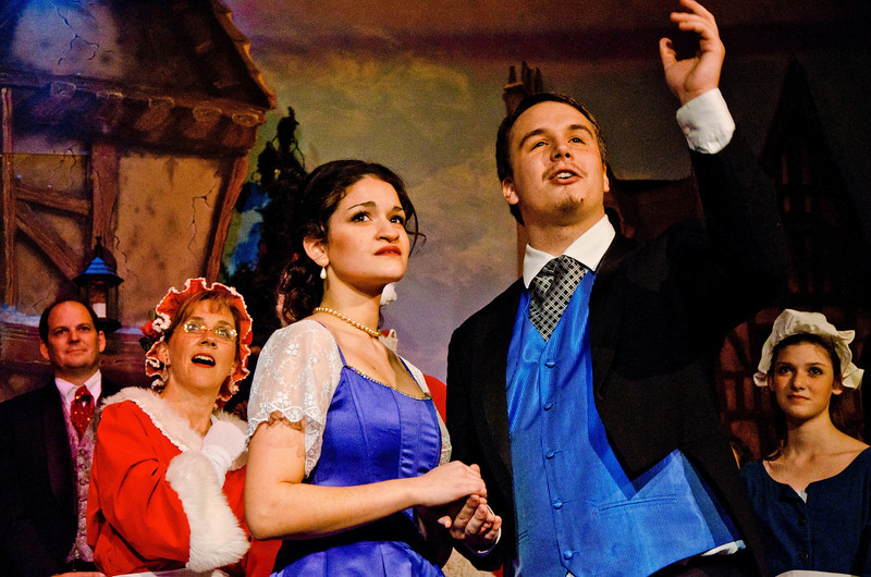 Sara Teeter as Young Belle with Alex Delahunty as Young Scrooge