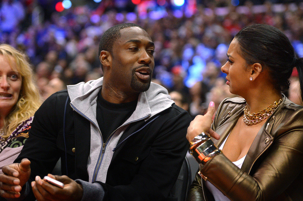 . Gilbert Arenas attends the Clippers-Lakers game, Friday, January 10, 2014, at Staples Center. (Photo by Michael Owen Baker/L.A. Daily News)