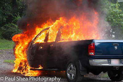 Car Fire - Marshall St, Leicester, MA - 7/23/18