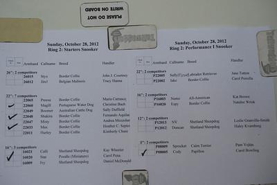 Starter Snooker SUN OCT 2012