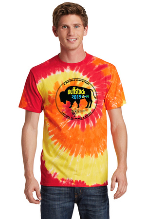 Buffstock Men's Shirt - PC147 Blaze Rainbow w-Logo.jpg