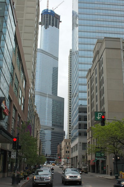 Street in Chicago downtown