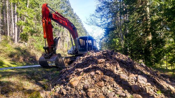 New Land roadwork