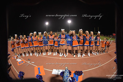 Cheerleaders at Ridgeland game 28 Sept 2018