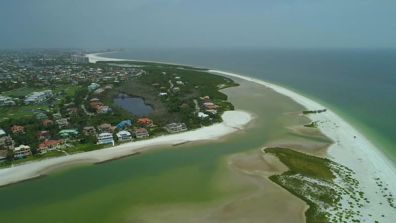 Aerial tour Tigertail Beach Florida Marco Island 4k