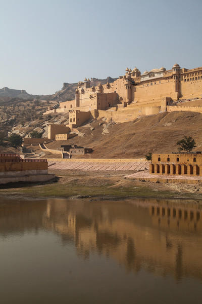 Amber Fort and its reflection.