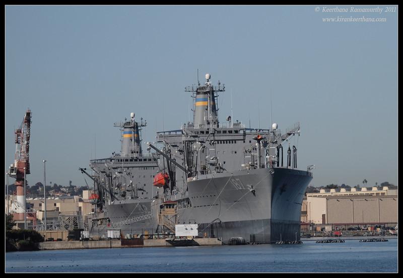 US Navy vessel, Coronado Ferry Landing, San Diego County, California, December 2011