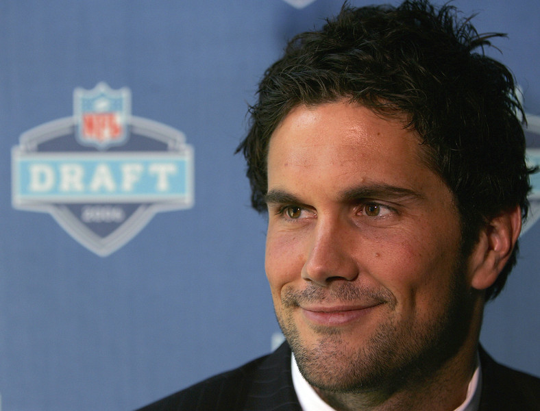 . Matt Leinart, USC Selected 10th overall by the Cardinals in 2006 Leinart started more games at quarterback his rookie year in Arizona (11) than he has in six seasons since (seven). The lefty quarterback is 8-10 as a starter, and has thrown just one touchdown since 2009. GRADE: F. When the image most associated with you involves a hot tub, you better not be an NFL quarterback.(Photo by Chris Trotman/Getty Images)