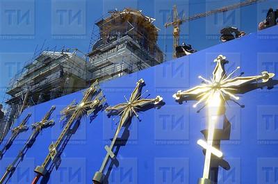 18.06.2018 Освящение крестов воссоздаваемого собора Казанской иконы Божией Матери (Расих Фасхутдинов)