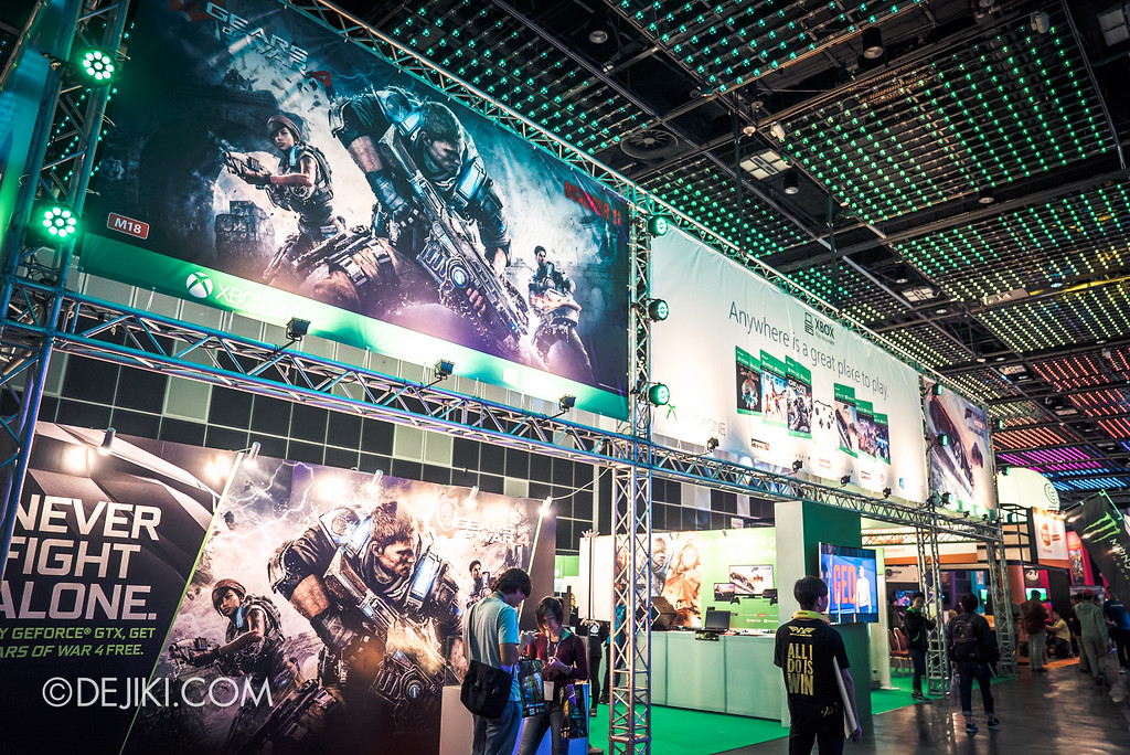 GameStart 2016 - Xbox booth featuring Xbox Anywhere
