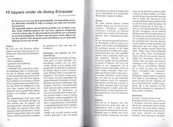 10 toppers onder de dwerg Ericaceae, Folium Alpinum 67, May 2002, Kees Jan van Zwienen