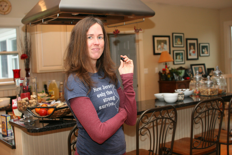 Catherine sports her new t-shirt, which she purchased in Asheville!