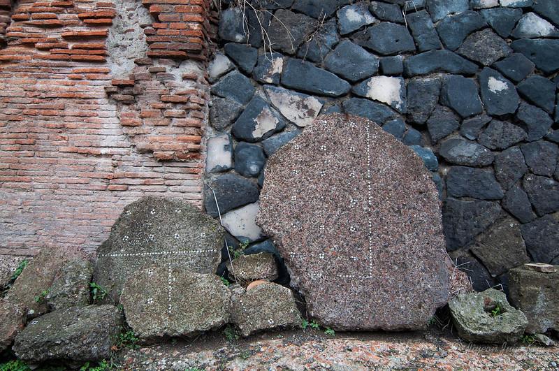 Fragment of mosaic floor at Herculaneum