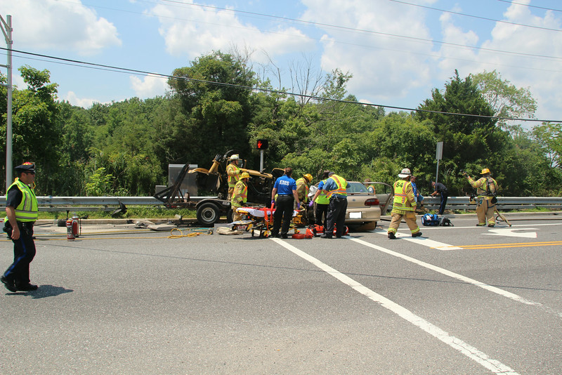 7-12-2014 Gloucester Twp(Camden County) MVA with Entrapment Blackhorse Pike and Collage Drive