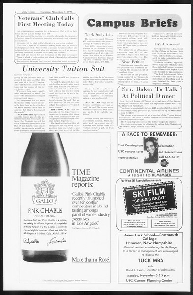 Daily Trojan, Vol. 66, No. 32, November 01, 1973