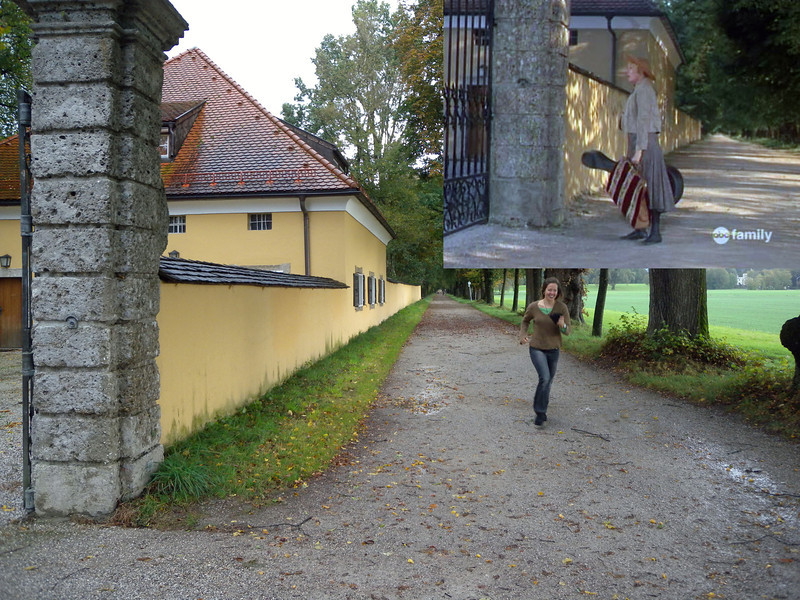 Frohnburg Castle - in the movie, this was the front of the Von Trapp's house. Here Melanie is running and trying to sing 'I am Confident!'