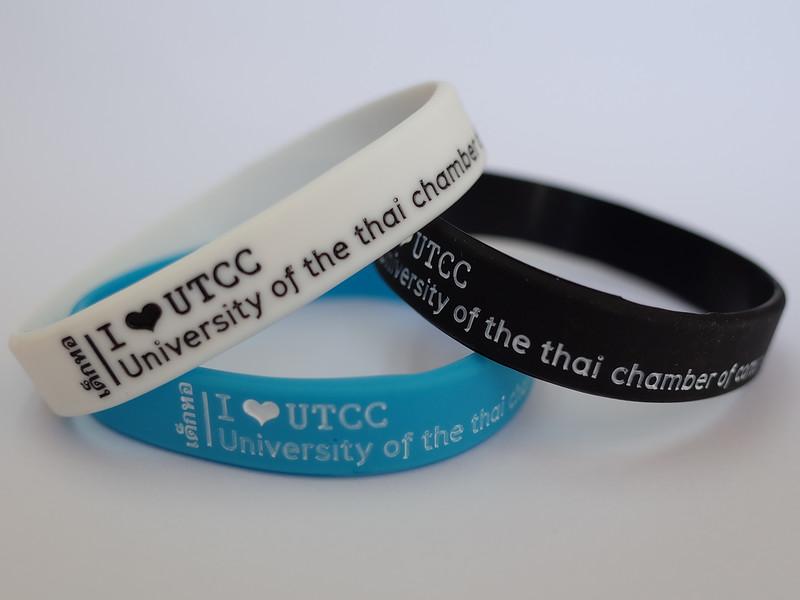 เด็กหอ I LOVE UTCC University of the thai chamber of commerce ริสแบนด์