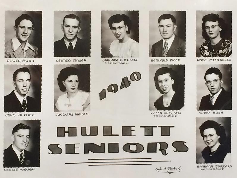 1949 Senior Class photo - Hulett, Wyoming High School