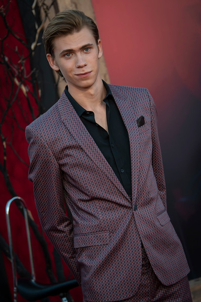 """WESTWOOD, CA - AUGUST 26: Owen Teague attends the Premiere Of Warner Bros. Pictures' """"It Chapter Two"""" at Regency Village Theatre on Monday, August 26, 2019 in Westwood, California. (Photo by Tom Sorensen/Moovieboy Pictures)"""