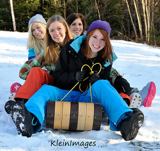 Vermont Girls Snow Shoot