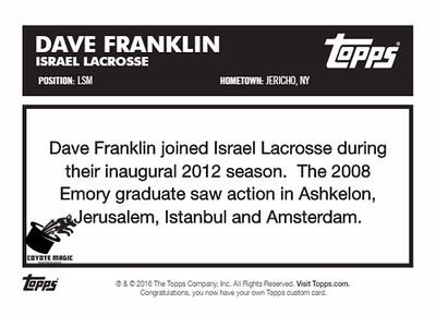 Israel Dave Franklin TOPPS1986 (ELC2012)