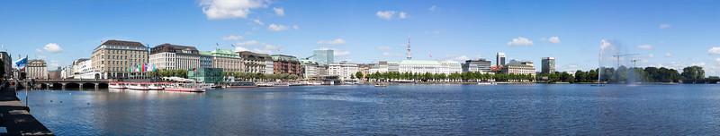 Binnenalster Hamburg am Tag