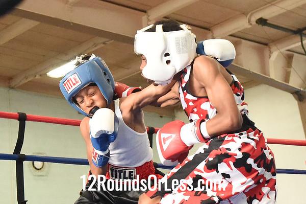 Bout 5 Barrick Wilson, Red Gloves -vs- Sage Brown, Blue Gloves, DNA Level C B.C., 80 lb  Intermediate Div. Championship