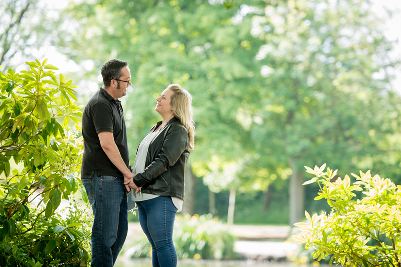 Terri and Jason pre-wedding photography - Longton Park, Staffordshire.