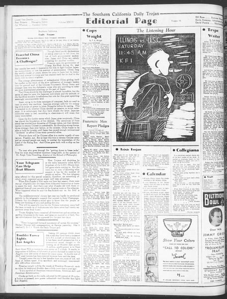 Daily Trojan, Vol. 28, No. 16, October 09, 1936