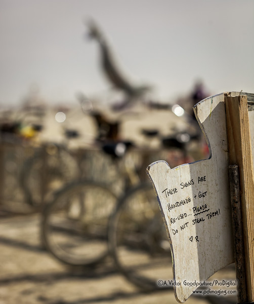 Yes, even theft is a problem at Burning Man.