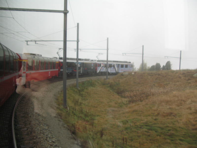 Another view of the front of the Bernina Express train