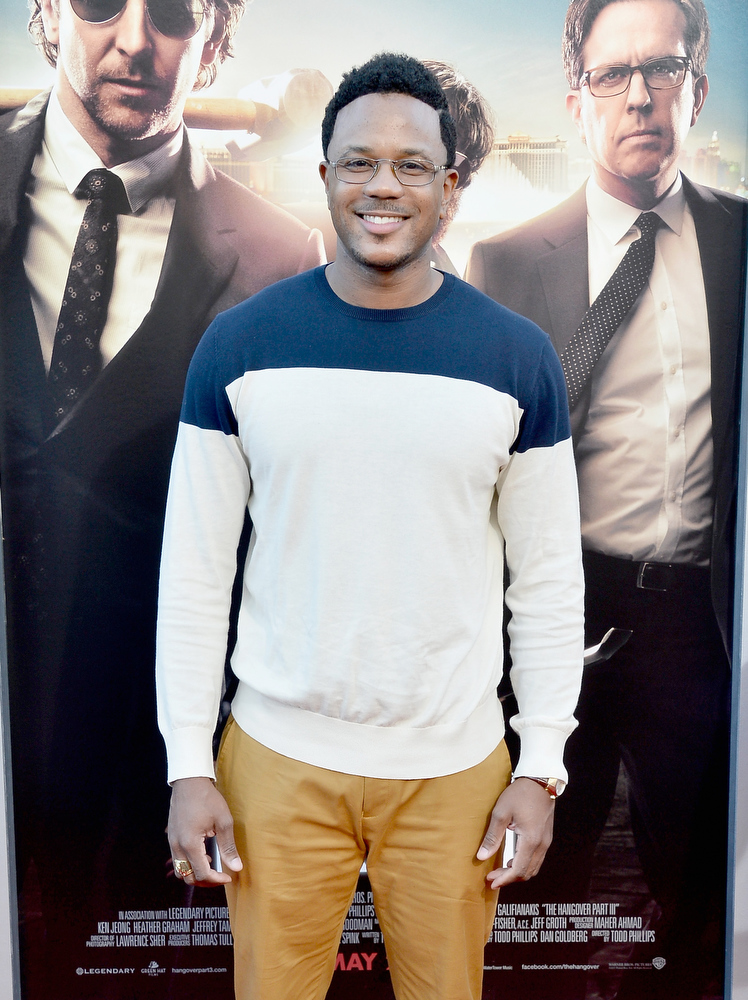 """. Actor Hosea Chanchez attends the premiere of Warner Bros. Pictures\' \""""Hangover Part 3\"""" at Westwood Village Theater on May 20, 2013 in Westwood, California.  (Photo by Frazer Harrison/Getty Images)"""