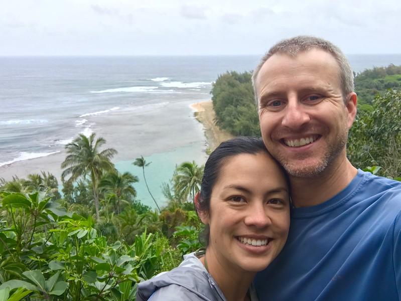 Jayna & Shane on the Kalalau Trail