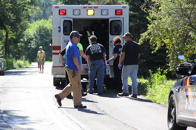 Single Vehicle Accident, Motorcycle, Mush Dahle Road, West Penn (7-29-2013)
