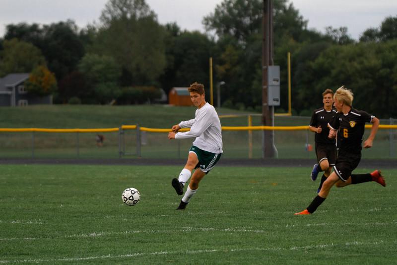 Holy Family Boys Varsity Soccer vs. Hutchinson, 9/26/19: Jordan Van Eyll '21 (22)